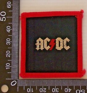 VINTAGE-70s-AC-DC-EMBROIDERED-SOUVENIR-TOUR-PATCH-WOVEN-CLOTH-SEW-ON-BADGE