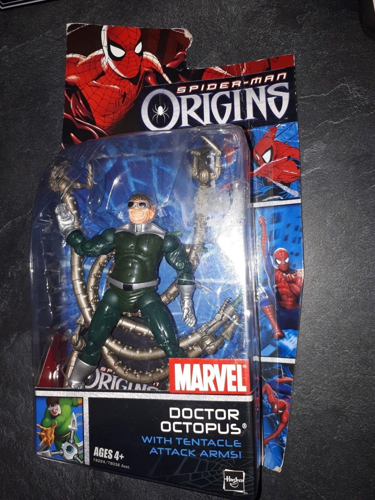 Figurine Spiderman Origins Doctor Octopus Hasbro 2006 vintage with box rare