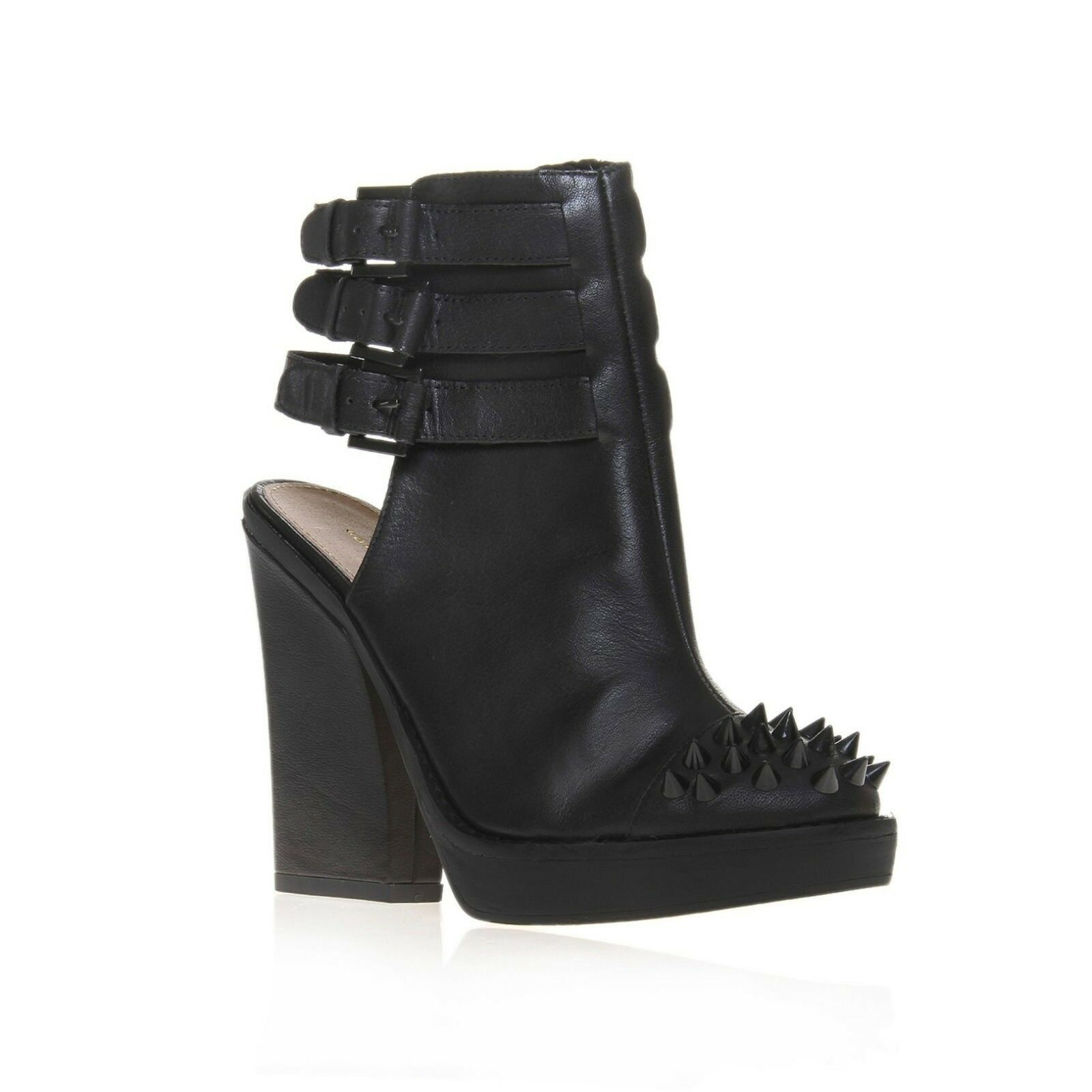 KG by Kurt Geiger Black Vex Leather Studded Ankle Boots NEW 8 39 9 40 SOLD OUT