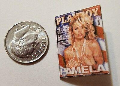 "Miniature Dollhouse book magazine 1/"" 1//12 scale Playboy Pamela Anderson Gun"