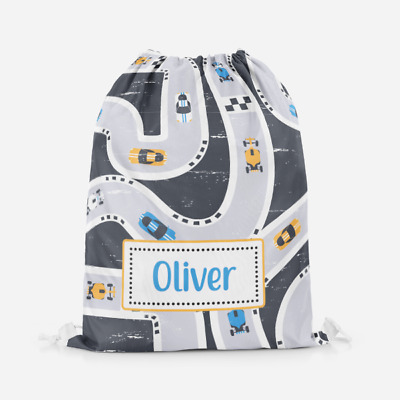 School Accessory Free UK Postage Back to School Green Tractor on Grey Bag Personalised PE Swimming