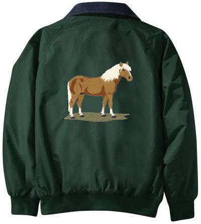 Haflinger Caballo Bordado chaqueta Cualquier Color B