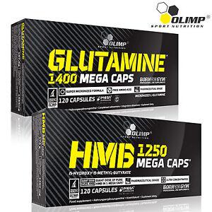 L-Glutamine-HMB-60-180-Caps-Amino-Acid-Anticatabolic-Lean-Muscle-Mass-Growth