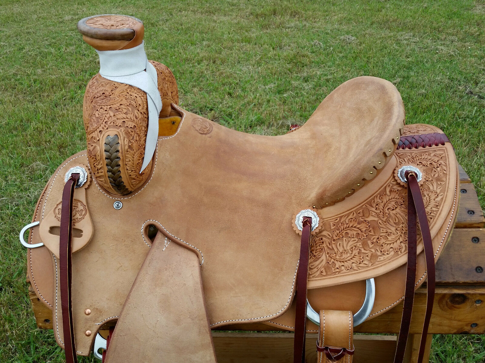 15.5  Spur Saddlery Ranch Roping Saddle - Seat Rigging -Made in Texas