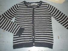 ++ CFK ++ 8 ans ++ Gilet cardigan en maille fine coton marine rayé ++TBE