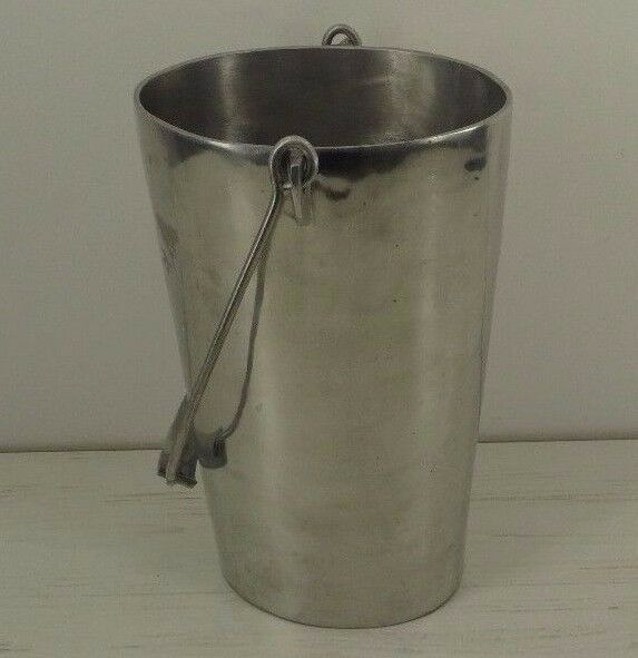 Pottery Barn Metal Bucket Vase Decorative Champagne Ice