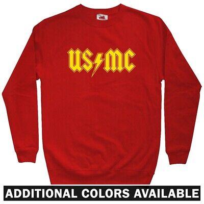 USMC Semper Fi Crewneck Sweatshirt in Sport Grey