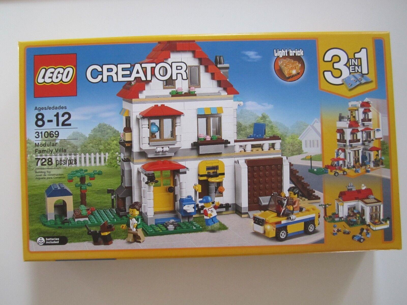 31069 LEGO Creator Modular Family Villa 728Pieces 3in1 Factory Sealed Nuovo in Box