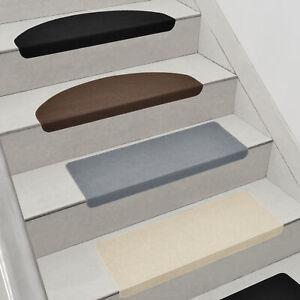 [en.casa] 15x Stufenmatten Treppenmatten Treppenteppich Treppenschoner Teppich