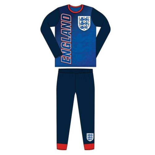 Boys Kids Children Child Teenage England Long Sleeve Pyjamas Pjs Pyjamas Set