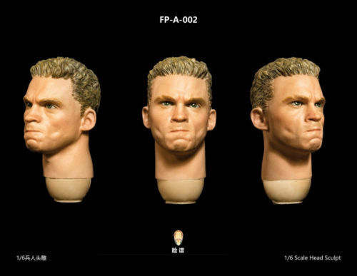 Action Figure Head FP-A-002 1 6 scale European Male Head Model With Expression