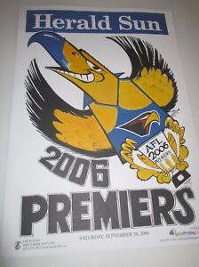 2006-West-Coast-Eagles-Official-Weg-Herald-Sun-Premiership-Poster-original