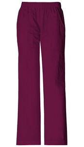 Scrubs Cherokee Workwear Mid Rise Drawstring Tall Pant WW120T WIN Wine