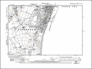 OLD ORDNANCE SURVEY MAP LOWESTOFT SOUTH 1904 LOVE ROAD CLAREMONT PIER KIRKLEY