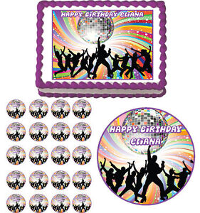 Disco Cake Toppers
