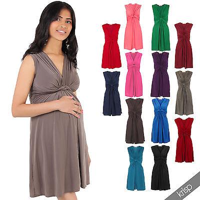 Womens Maternity Pregnancy Dress Sexy Mini Mama V-Neck Sleeveless