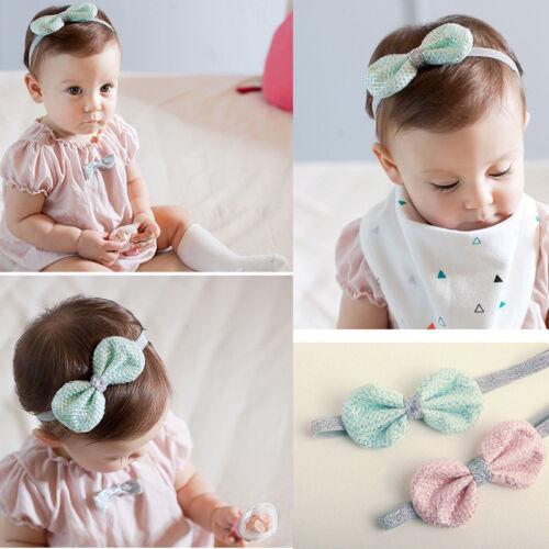 Adorable Baby Girls Tinsel Headbands Elastic  Bowknot Hair Band Accessories New