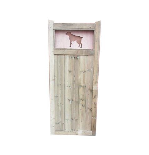 Wooden Garden Dog Cut Out Gate 4ft HIGH