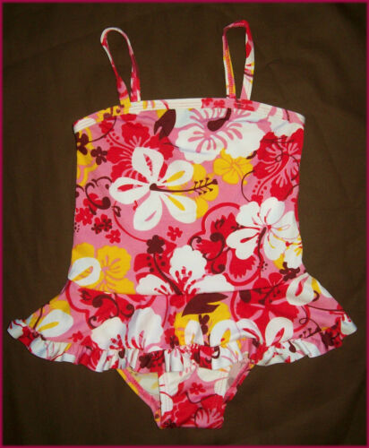 BABY GIRLS TOGS Sz 12 18 or 24 mths New SWIMWEAR BATHERS Cute PINK COSSIE