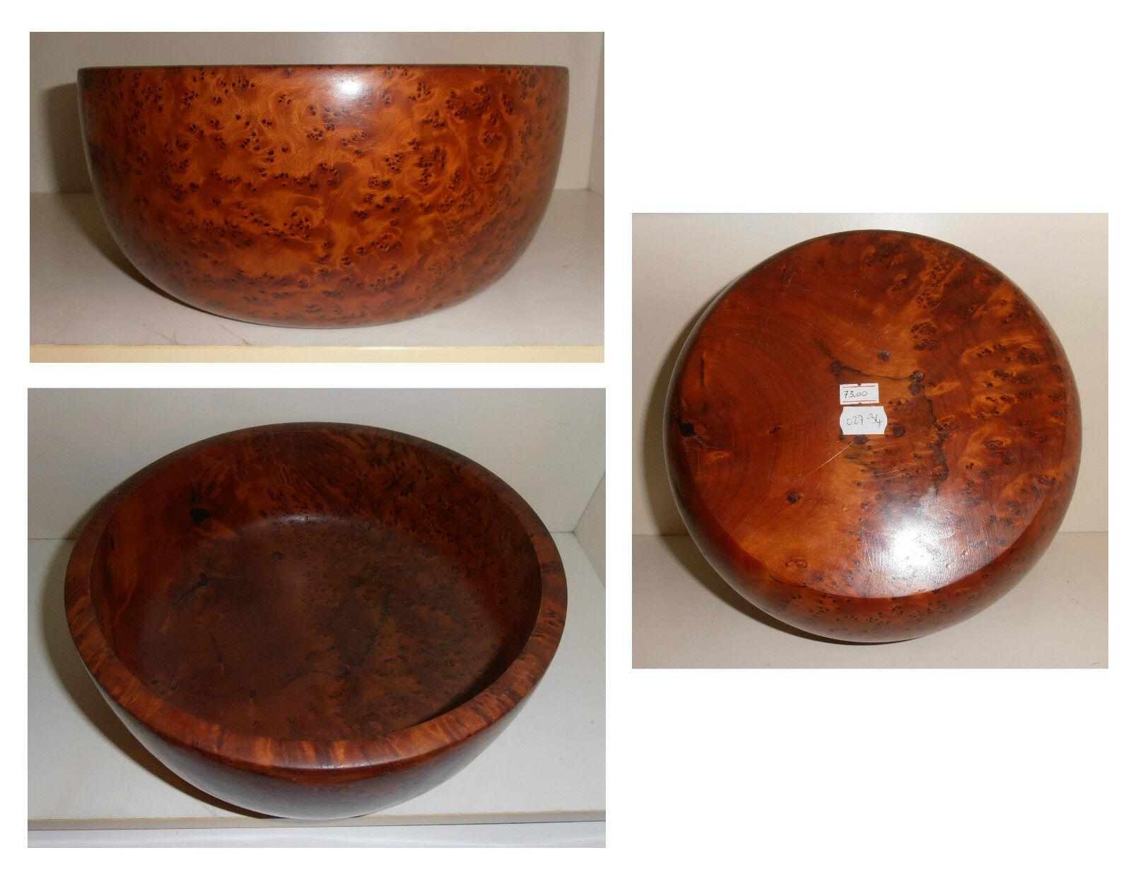 Ciotola cm 27 radica, legno radice tuya tuja tuia, artigianato africano, C27-34