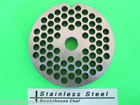 Size 8 X 3/16 Meat Grinder Plate For Manual Or Electric Grinder Stainless