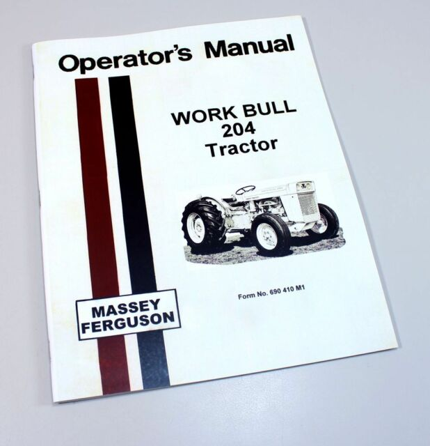 Mf 690 Operators Instruction Book Other Tractor Publications