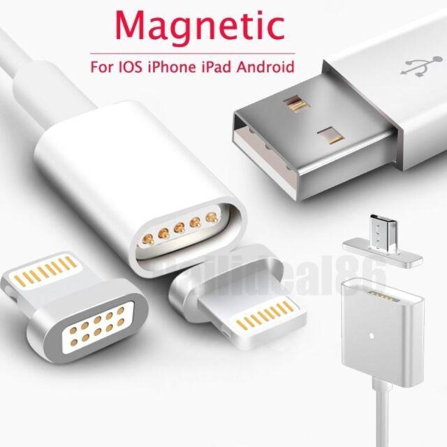 magnético Cargador Usb Lightning Cable adaptador para Apple iPhone/ Samsung/ LG
