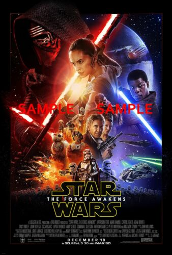 "Star Wars// the force awakens B2G1F Movie Collector/'s Poster Print 11/"" x 17/"""