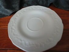 Milk Glass Floral Band Saucer for cup Indiana Glass Company 6 in wide  Vintage
