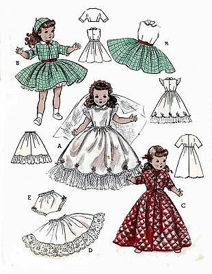 Doll Clothes PATTERN 7975 for 19.5 Toni /& Saucy Walker Shirley Temple Ruth