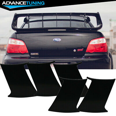 fits 02 07 subaru impreza wrx sti 5pc trunk spoiler wing stabilizer support ebay fits 02 07 subaru impreza wrx sti 5pc trunk spoiler wing stabilizer support ebay