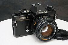 - Black Minolta XD 11 35mm Camera w/ Minolta 50mm f1.4 Lens