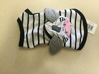Sarah & Tom Dog T-shirt Black And White Striped With Zipper Animal Pouch Xs