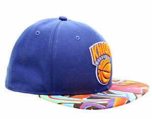 4935ae8d97b96 New Era 59Fifty New York Knicks Visor Real Graffiti Men s Fitted Hat ...