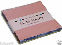 "Moda Bella Solids Solid 30's 30s - 2 Charm Packs 84 5"" Cotton Quilt Squares"