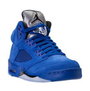 newest 5ce4e 00ec7 Image is loading Nike-Air-Jordan-5-V-Royal-Blue-Suede-