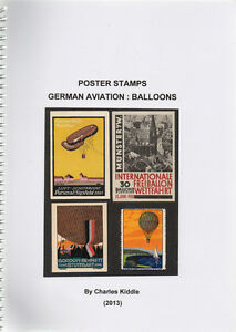 I-B-CK-Cinderella-Catalogue-Poster-Stamps-German-Aviation-Balloons