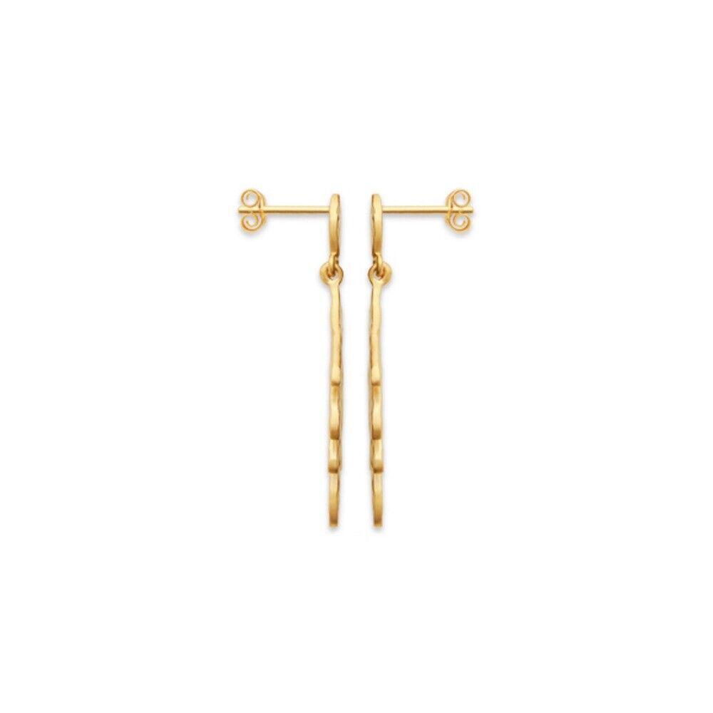 Boucles d'oreilles pendantes pendantes pendantes feuille plaqué or 750 000 garanti  10 ans 887207