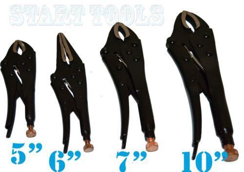 "7/"" 10/"" /& 6/"" Long Nose Plier BLACK Finish Hand Tool 4PC LOCKING PLIERS SET 5/"""