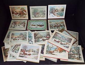 Lot of 164 Vintage 1940-1950 Greeting Card Christmas Birthday Gibson Rust Craft