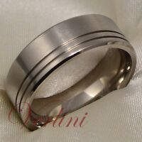 Titanium Men's Ring Matte Wedding Band Anniversary Jewelry Size 6-13