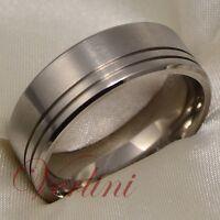 Titanium Men's Ring Matte Wedding Band Anniversary Jewelry Size 6-13