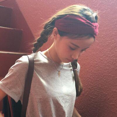 Summer Pineapple Print Hair Bands Headband Cross Turban Bandana HairBand shan