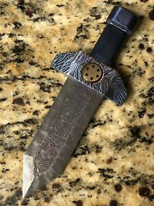 EXCALIBUR-Mini-Sword-Real-Meteorite-Damascus-Holy-Grail-Knife-1-1-Hand-Forged