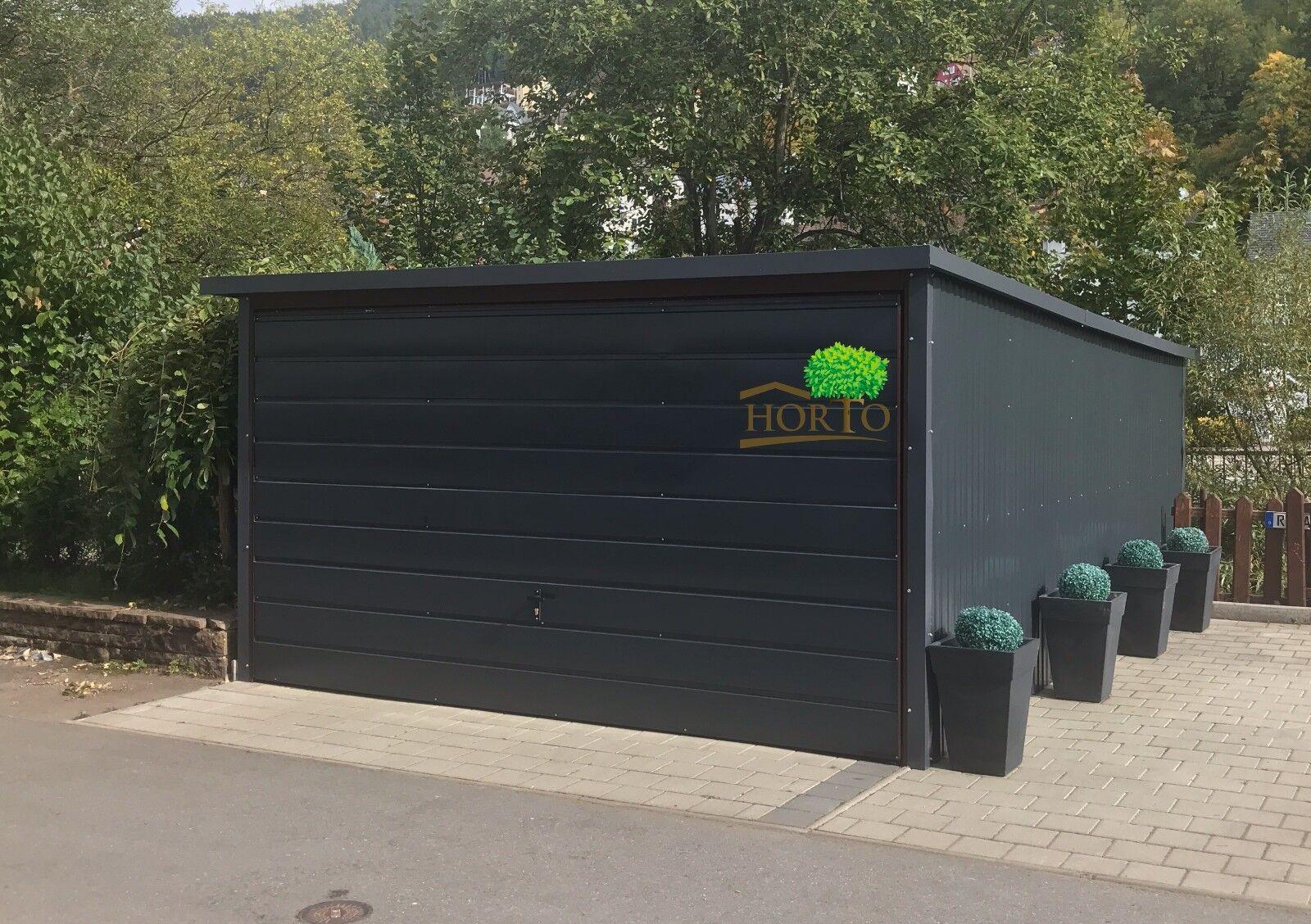 Blechgarage Fertiggarage Metallgarage LAGERRAUM GERÄTESCHUPPEN garage 4x5 NEU