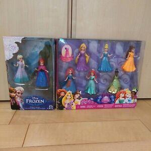 Disney-Princess-MAGICLIP-8-PC-Doll-Gift-Set-3-75-Frozen-Anna-Elsa-Mattel-USED