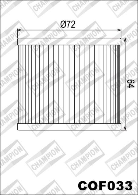 COF033 Filtre à Huile CHAMPION Bimota 1100 SB4 1100 1983>1984