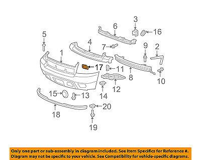Chevrolet GM OEM Suburban 1500 Front Bumper-Tow Hook Eye Cover Cap Left 15946156