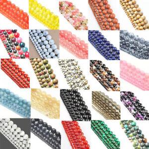 Perles-Beads-Ronde-en-Pierre-naturelle-4-6-8-10-12mm-47-Couleurs-Creatifs-bijoux