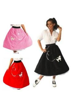 c065c7e574ac8 50's Poodle Skirt movie Grease Happy Days Sock Hop Adult Costume One ...